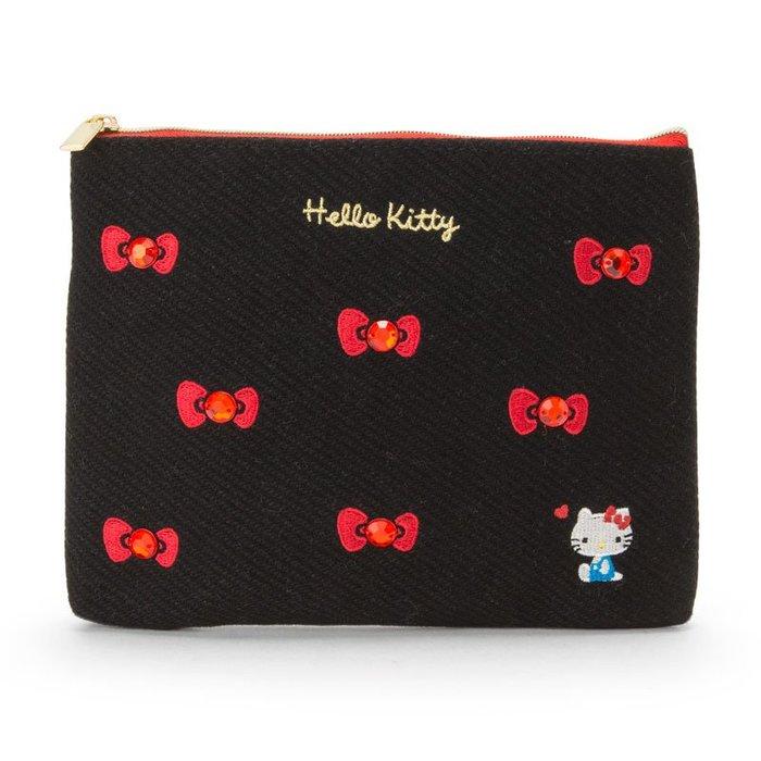 *Miki日本小舖*日本㊣版三麗鷗凱蒂貓Hello Kitty紅寶石蝴蝶造型化妝包/扁包/隨身包/小包