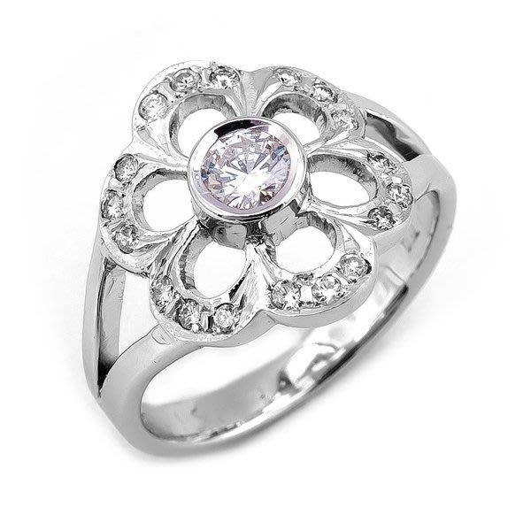 【JHT 金宏總珠寶/GIA鑽石專賣】0.25ct天然造型鑽戒/材質:18K(D000164)