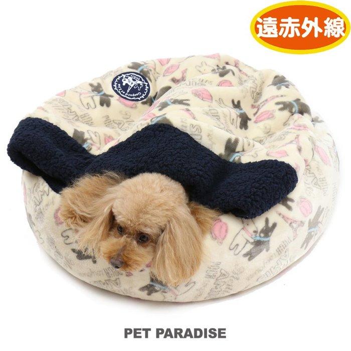 貝果貝果 日本pet paradise 代理 Gaspard et Lisa 斜塔咖啡 可拆式圓形睡袋 M [H866]