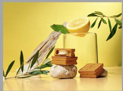 《阿肥小舖》press butter sand 瀨戶內海檸檬 5入拆盒 日本中四國地域限定 焦糖奶油夾心餅