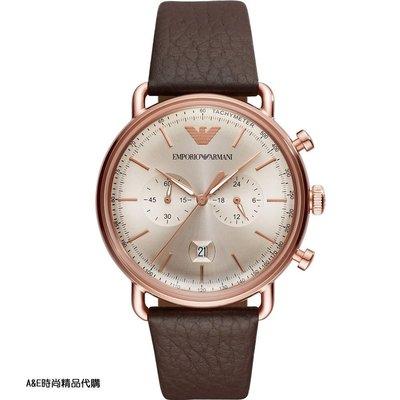 A&E精品代購EMPORIO ARMANI 阿曼尼手錶AR11106 經典義式風格簡約腕錶 手錶