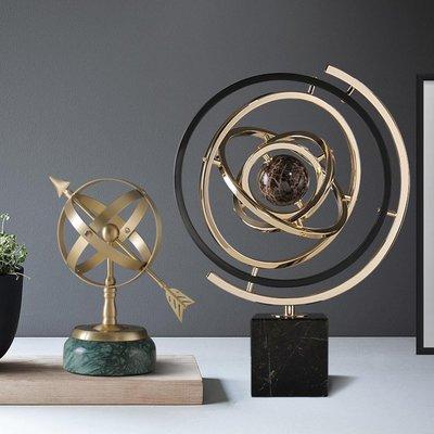 地球儀歐式輕奢辦公室桌面擺件客廳玄關電視柜酒柜裝飾品創意地球儀擺件哆啦A珍