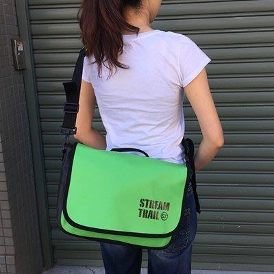 日本StreamTrail戶外防水包~Shell單肩休閒包-萊姆綠Lime (上課上班逛街購物騎車最方便)
