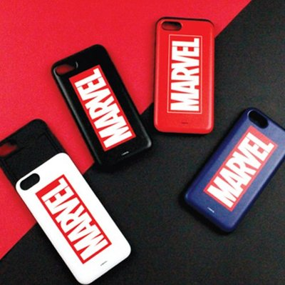 MARVEL 經典文字 防摔滑蓋卡夾 手機殼│iPhone X XS MAX XR│z8671