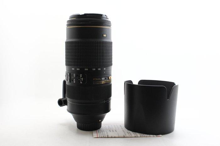 【高雄青蘋果3C】NIKON AF-S 80-400MM F4.5-5.6 G ED 金VR 二手鏡頭 #22953