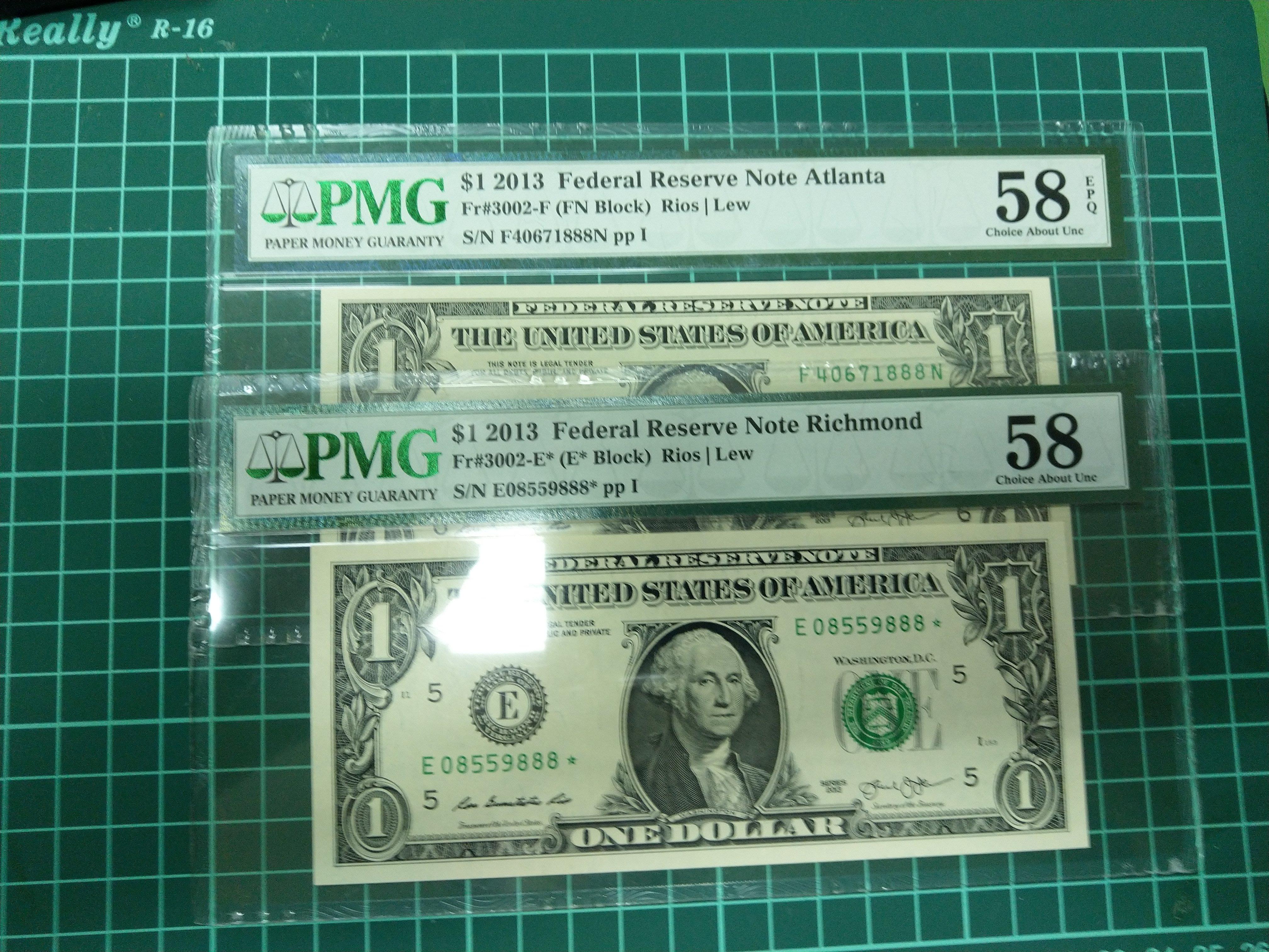 六同零小舖~PMG 評級美鈔  尾數888