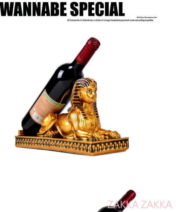 免運 埃及獅身人面酒架 酒瓶架 單瓶紅酒架 復古時尚奢華麗 電視柜酒柜吧台裝飾佈置 客廳餐廳民宿居家擺飾♡幸福底家♡