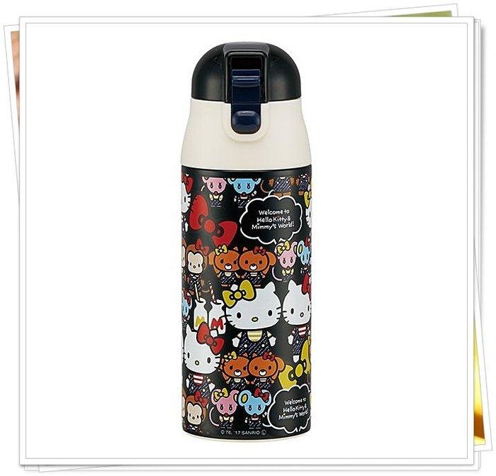 kitty 貓 黑色 400346 真空構造不鏽鋼 保溫水壺 360ml 保冷杯 環保杯 正版 通販