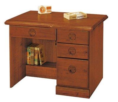 【浪漫滿屋家具】(Gp)554-3 古典香檜3.5尺辦公桌