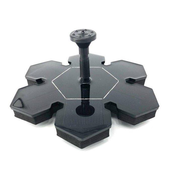 創意戶外新款太陽能噴泉 冰花形 太陽能噴泉 冰雪噴泉 漂浮噴泉水泵10386