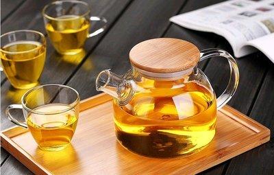 【自在坊】玻璃茶具  加厚花茶壺  耐...