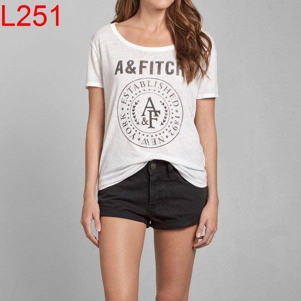 【西寧鹿】AF a&f Abercrombie & Fitch HCO 女 T-shirt 絕對真貨 可面交 L251