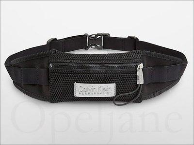 官網 CK Calvin Klein 卡文克萊黑色專業慢跑賽跑運動隨身皮帶式腰包可放IPHONE6+ 愛Coach包包