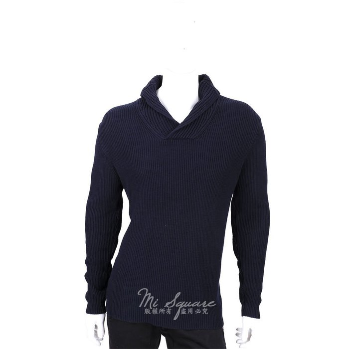 米蘭廣場ZARA 深藍色肘拼接設計羅紋針織上衣(展示品) 1530035-34
