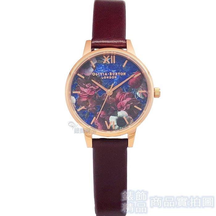 OLIVIA BURTON 手錶 OB16SP10 英式古典 酒紅色錶帶 女錶30mm【錶飾精品】