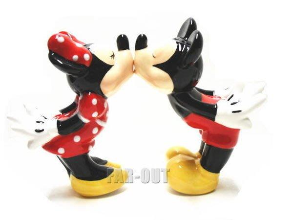 (I LOVE樂多)進口商品 迪士尼米老鼠調味罐 米奇&米妮一對(送人自用兩相宜)