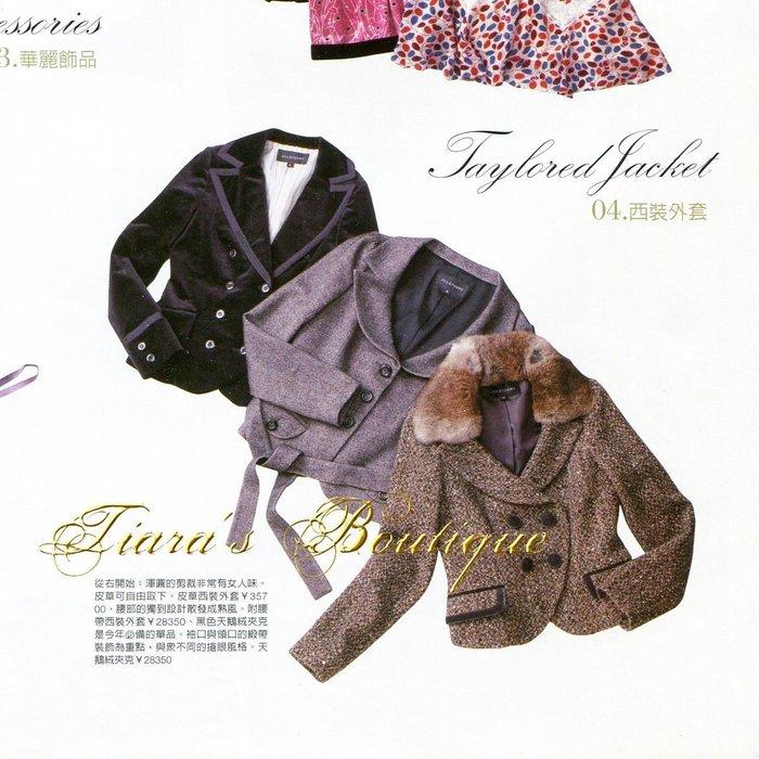 JILL STUART 黑色天鵝絨雙排扣西裝外套 維多利亞宮廷風 ViVi SWEET雜誌熱刊款 稀有日本製 (274)