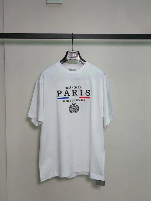 BALENCIAGA 春夏新款 PARIS T恤 尺寸XS S M $11500/件 台灣專櫃 14000左右