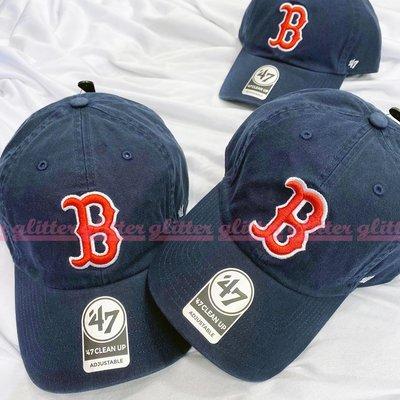 glitter。47Brand MLB Boston Red Sox 波士頓 紅襪隊 深藍色 老帽