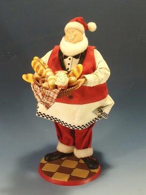 聖誕老公公烘焙師傅塑像:聖誕節 老公公 烘焙 西點 麵包 居家 裝飾 家飾 設計 禮品 塑像 擺飾 雜貨