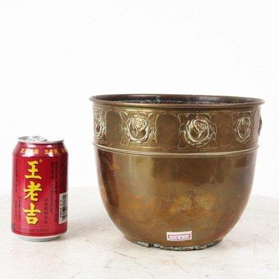 百寶軒 20世紀早期西洋古董銅器黃銅銅缸銅罐銅杯西洋民俗擺件0.35kg ZG1183