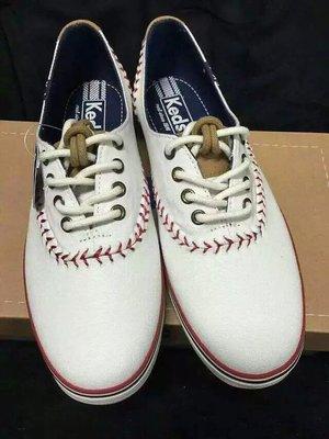 ╭☆包媽子店☆Keds 棒球款系帶帆布鞋