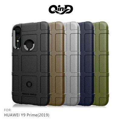 【愛瘋潮】QinD HUAWEI Y9 Prime(2019) 戰術護盾保護套 背蓋 TPU套 手機殼 保護殼 鏡頭保護