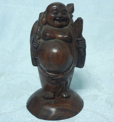 黑色小~~海南黃花梨木~早期手工神像雕刻5