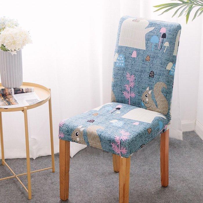 小花精品店-餐廳桌椅套通用現代簡約彈力椅套連體餐椅套家用座套凳子套罩布藝(3件起購)