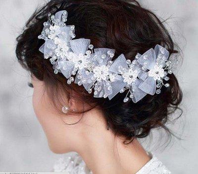 新秘飾品 新娘飾品 新娘秘書 新娘髮飾 新娘頭飾 新娘包 禮服 新娘頭紗 新秘 婚紗 新娘飾品【P-527】白色頭飾
