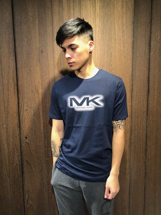 美國百分百【全新真品】 Michael Kors 短袖 T恤 MK 上衣 T-shirt MK logo AI96