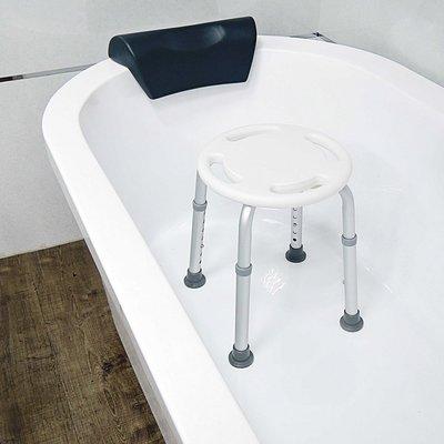 鋁合金防滑洗澡圓椅凳(7段高度)