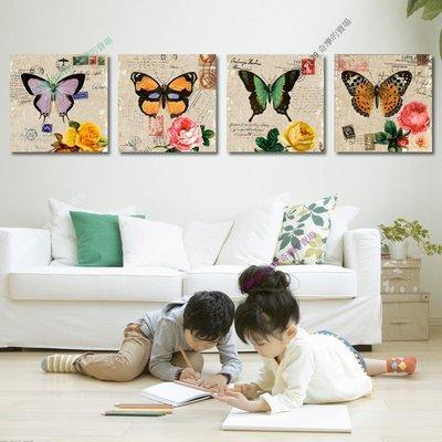 【60*60cm】【厚2.5cm】蝴蝶-無框畫裝飾畫版畫客廳簡約家居餐廳臥室牆壁【280101_220】(1套價格)