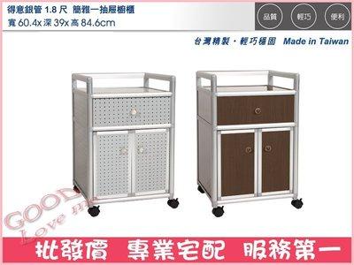 《娜富米家具》SZH-43-3 得意銀管1.8尺簡雅一抽屜櫥櫃(花格)~ 優惠價1800元 台北市