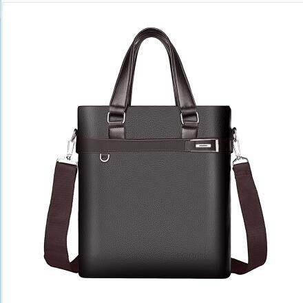 加厚公文包男商務休閒手提包橫款男士包包側背包