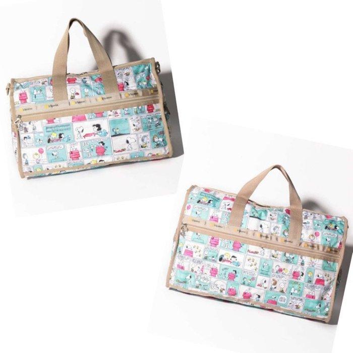 ♥ 小花日韓雜貨 ♥ -- lesportsac 4318 4319 史努比大款中款旅行袋出國出差行李包