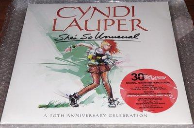 (全新未拆絕版彩膠)Cyndi Lauper / She's So Unusual 30週年紀念版
