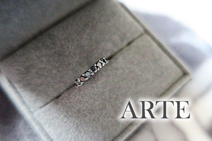 *Beauty*ARTE人造鑽石單個耳環 黑色排鑽款 925純銀  JL 原價3500元