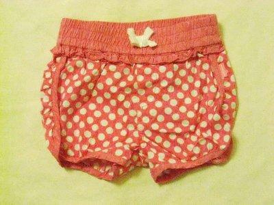 桃紅色點點小短褲