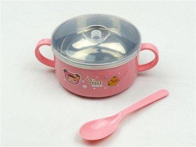 飯盒便當盒學生圓形飯缸兒童帶蓋大碗快餐杯帶蓋鐵餐盒