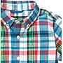 *DORA BABY* Gymboree 全新正貨12~18M男寶寶短袖格紋襯衫  (藍綠紅色)~【現貨】