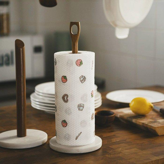 MAJPOINT*廚房捲筒衛生紙 擦手餐巾紙 大理石 相思實木 紙巾架 餐桌 手提置物架 北歐 居家 美器 日式 簡約