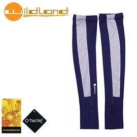 丹大戶外【Wildand】荒野 中性開洞抗UV透氣袖套 加長設計 長度至手背 W1801-72 深藍色