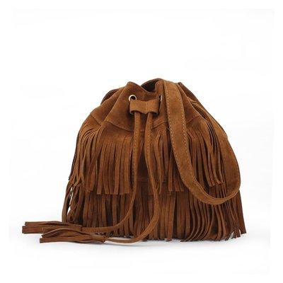 SEYES 波希米亞基本款歐美時尚森林系流蘇束口包