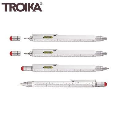 又敗家銀色特別款德國Troika 5合1工程筆PIP20SI/RD觸控筆起子尺水平儀多功能原子筆多用途筆多功能工具筆