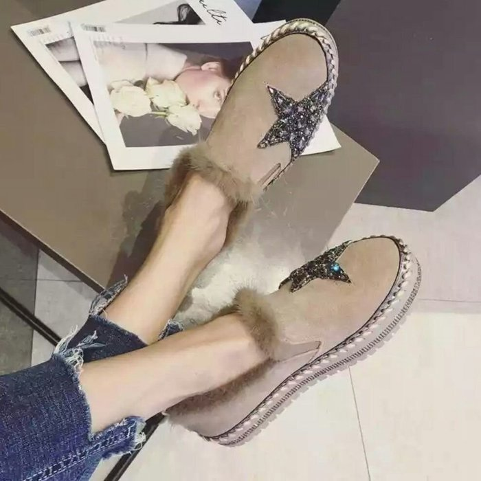 韓國五角星大水鑽懶人鞋 樂福鞋