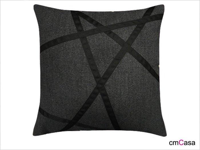= cmCasa = [2922]簡約時尚設計  Artikeln線條幾何抱枕套/腰枕套 雙色精緻設計發行