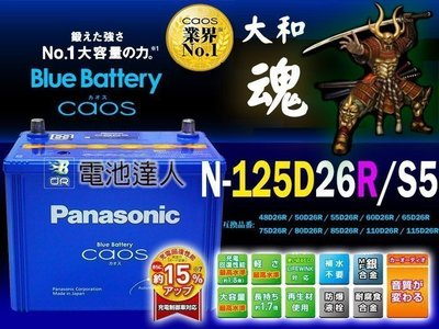 〈中壢電池〉日本 國際牌 汽車電池 125D26R LEXUS 凌志 GS250 GS300 IS250 納智捷 速霸陸