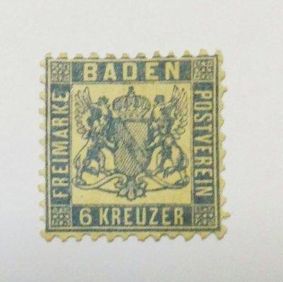 185f.德國聯邦 巴登(Baden) 1864年 Coat of arms - 紋章  6 kreuzer