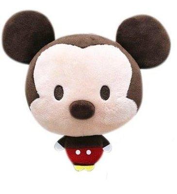 【正版授權】迪士尼 大頭小身造型伸縮票卡包/絨毛伸縮票卡玩偶/易拉扣~~ 米奇~~